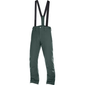 Salomon Stormseason Pantalon Homme, green gab